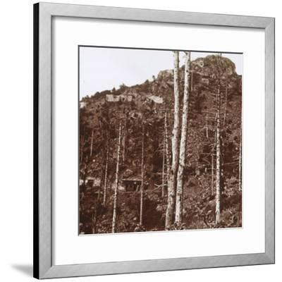 German lines, c1914-c1918-Unknown-Framed Photographic Print