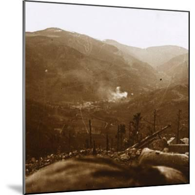 Bombardment, Metzeral, northern France, c1914-c1918-Unknown-Mounted Photographic Print