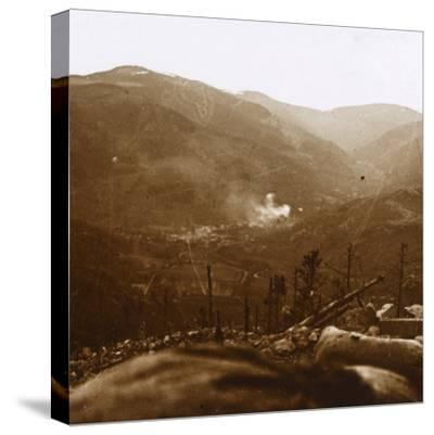 Bombardment, Metzeral, northern France, c1914-c1918-Unknown-Stretched Canvas Print