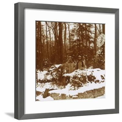 Monument des Chasseurs, Col de la Chipotte, eastern France, c1914-c1918-Unknown-Framed Photographic Print