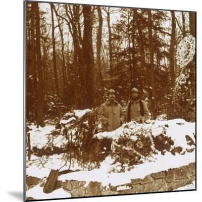 Monument des Chasseurs, Col de la Chipotte, eastern France, c1914-c1918-Unknown-Mounted Photographic Print