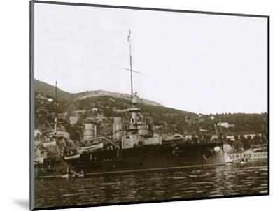 Battleship at Villefranche, France, c1914-c1918-Unknown-Mounted Photographic Print