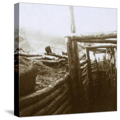 Trenches, Artois, northern France, c1914-c1918-Unknown-Stretched Canvas Print