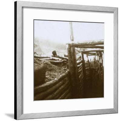 Trenches, Artois, northern France, c1914-c1918-Unknown-Framed Photographic Print