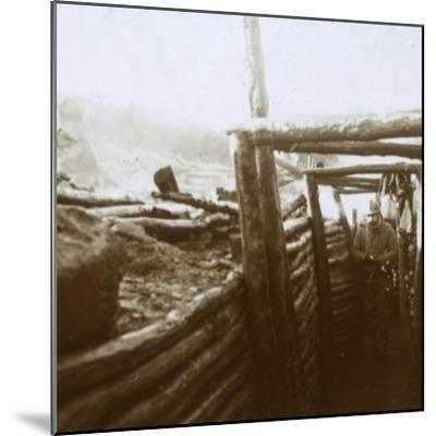 Trenches, Artois, northern France, c1914-c1918-Unknown-Mounted Photographic Print
