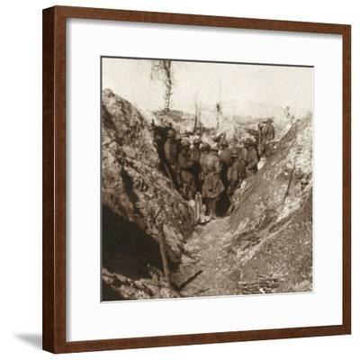 Bois de la Grille before attack, northern France, c1914-c1918-Unknown-Framed Photographic Print