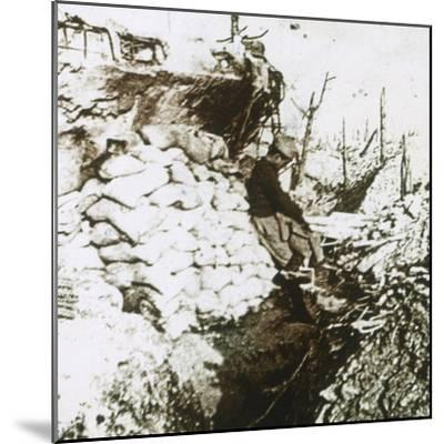 Trenches, c1914-c1918-Unknown-Mounted Photographic Print