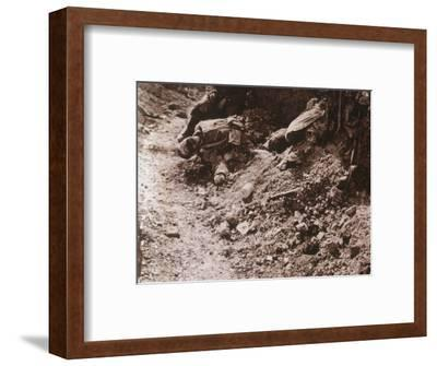 Dead bodies, Beauséjour, northern France, c1914-c1918-Unknown-Framed Photographic Print