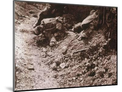 Dead bodies, Beauséjour, northern France, c1914-c1918-Unknown-Mounted Photographic Print