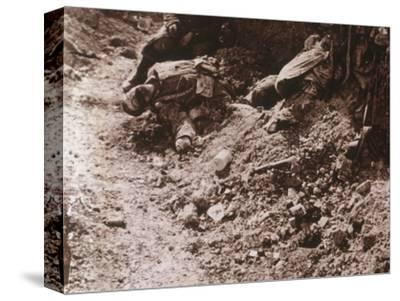 Dead bodies, Beauséjour, northern France, c1914-c1918-Unknown-Stretched Canvas Print