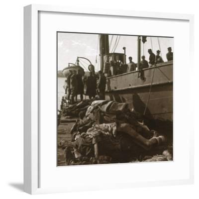 Bodies of typhus victims, Corfu, Greece, c1915-Unknown-Framed Photographic Print