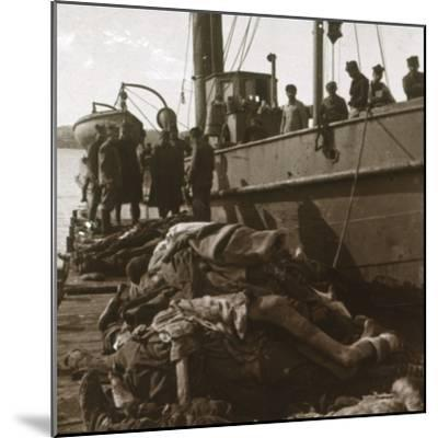 Bodies of typhus victims, Corfu, Greece, c1915-Unknown-Mounted Photographic Print
