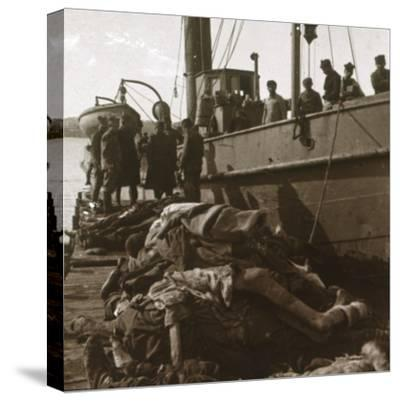 Bodies of typhus victims, Corfu, Greece, c1915-Unknown-Stretched Canvas Print