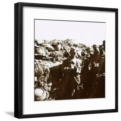 Front line trenches, c1914-c1918-Unknown-Framed Photographic Print