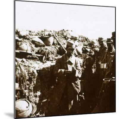 Front line trenches, c1914-c1918-Unknown-Mounted Photographic Print