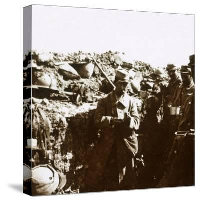 Front line trenches, c1914-c1918-Unknown-Stretched Canvas Print