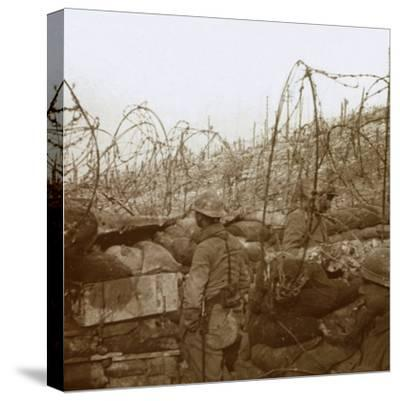 Fosse Froide trench, Champagne, northern France, c1914-c1918-Unknown-Stretched Canvas Print