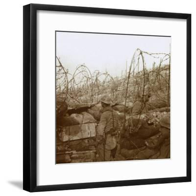Fosse Froide trench, Champagne, northern France, c1914-c1918-Unknown-Framed Photographic Print