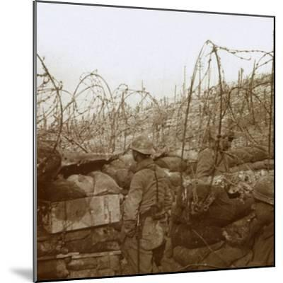Fosse Froide trench, Champagne, northern France, c1914-c1918-Unknown-Mounted Photographic Print