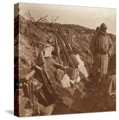 Front line, Vauquois, northern France, c1914-c1918-Unknown-Stretched Canvas Print