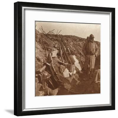 Front line, Vauquois, northern France, c1914-c1918-Unknown-Framed Photographic Print
