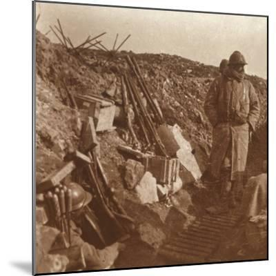 Front line, Vauquois, northern France, c1914-c1918-Unknown-Mounted Photographic Print