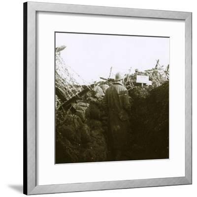 Trenches, Cornille, France, c1914-c1918-Unknown-Framed Photographic Print