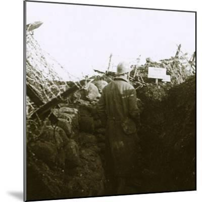 Trenches, Cornille, France, c1914-c1918-Unknown-Mounted Photographic Print