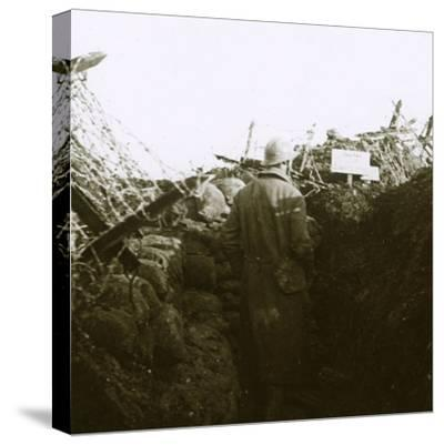 Trenches, Cornille, France, c1914-c1918-Unknown-Stretched Canvas Print