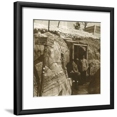 Trenches, Champagne, northern France, c1914-c1918-Unknown-Framed Photographic Print
