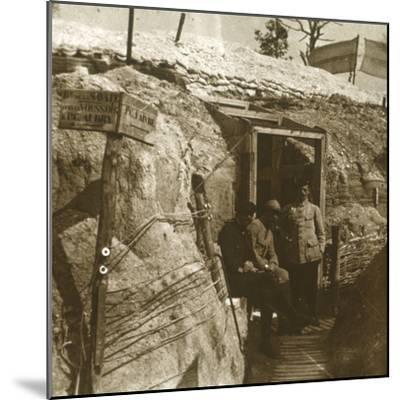 Trenches, Champagne, northern France, c1914-c1918-Unknown-Mounted Photographic Print