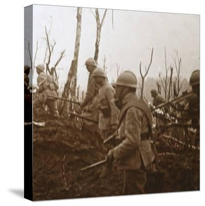 Soldiers advancing, c1914-c1918-Unknown-Stretched Canvas Print