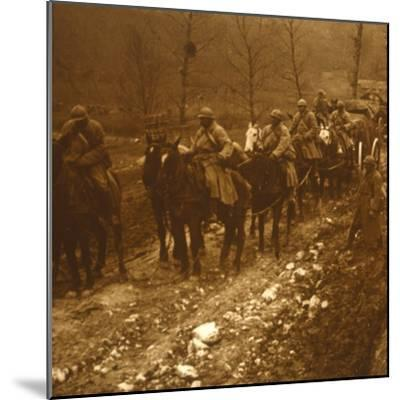 Soldiers on the move, c1914-c1918-Unknown-Mounted Photographic Print