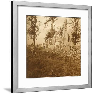Ruined chapel, 1914-c1918-Unknown-Framed Photographic Print