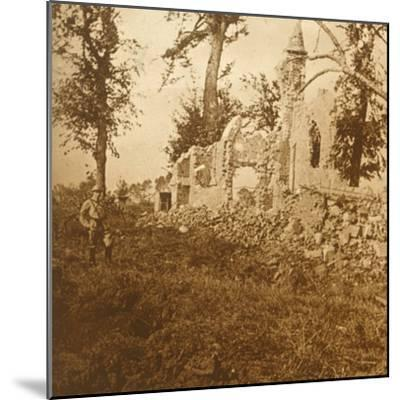 Ruined chapel, 1914-c1918-Unknown-Mounted Photographic Print