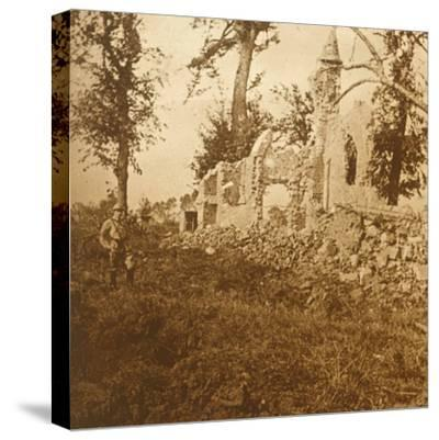 Ruined chapel, 1914-c1918-Unknown-Stretched Canvas Print