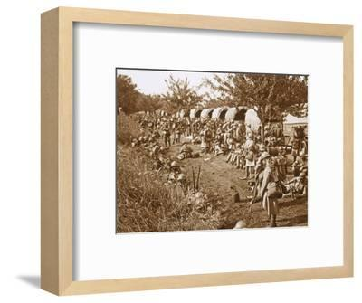 Moving off, road to Foix, France, c1914-c1918-Unknown-Framed Photographic Print