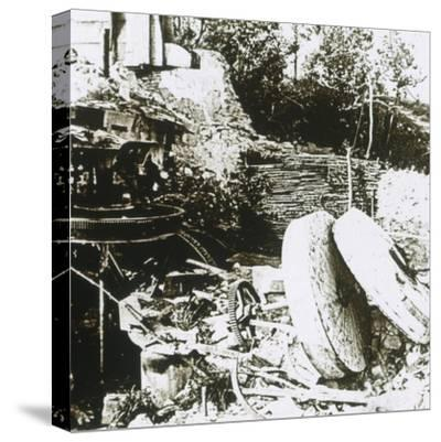 Mill at Woëvre, France, c1914-c1918-Unknown-Stretched Canvas Print