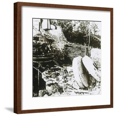 Mill at Woëvre, France, c1914-c1918-Unknown-Framed Photographic Print