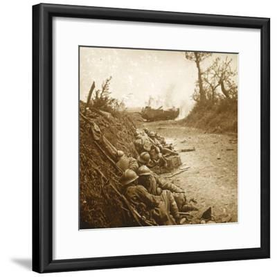 The taking of Courcelles, northern France, June 1918-Unknown-Framed Photographic Print