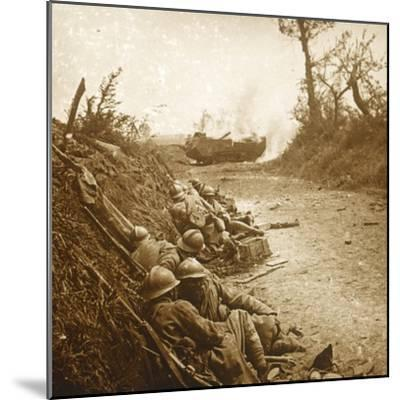 The taking of Courcelles, northern France, June 1918-Unknown-Mounted Photographic Print