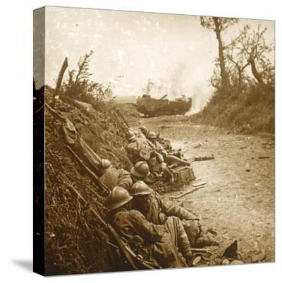 The taking of Courcelles, northern France, June 1918-Unknown-Stretched Canvas Print