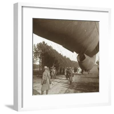 Raising of an observation balloon, Somme, northern France, 1916-Unknown-Framed Photographic Print