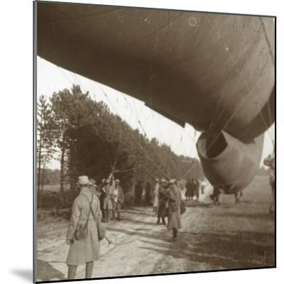 Raising of an observation balloon, Somme, northern France, 1916-Unknown-Mounted Photographic Print