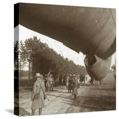 Raising of an observation balloon, Somme, northern France, 1916-Unknown-Stretched Canvas Print
