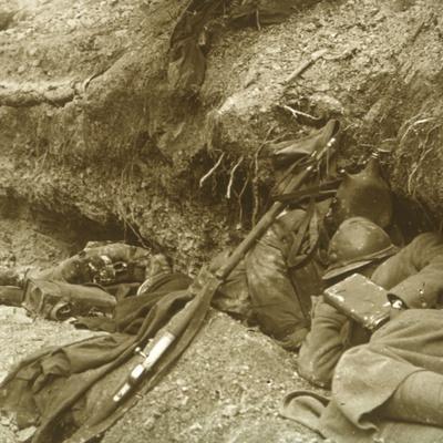 Siesta, Verdun, northern France, 1916-Unknown-Framed Photographic Print