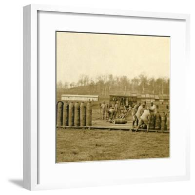 Depot for large shells, c1914-c1918-Unknown-Framed Photographic Print