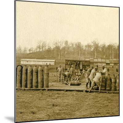 Depot for large shells, c1914-c1918-Unknown-Mounted Photographic Print