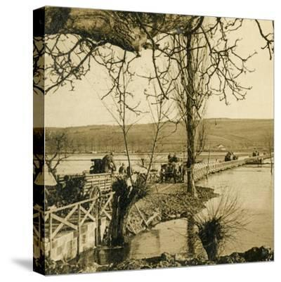 Bridge over the River Meuse at Dugny, northern France, c1914-c1918-Unknown-Stretched Canvas Print
