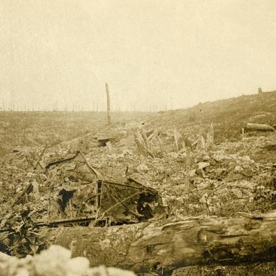 Battlefield, Bezonvaux, Verdun, northern France, c1914-c1918-Unknown-Framed Photographic Print